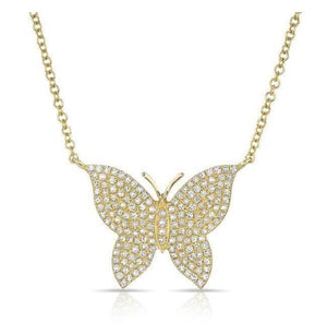 Butterfly Necklace w/ Swarovski Crystals