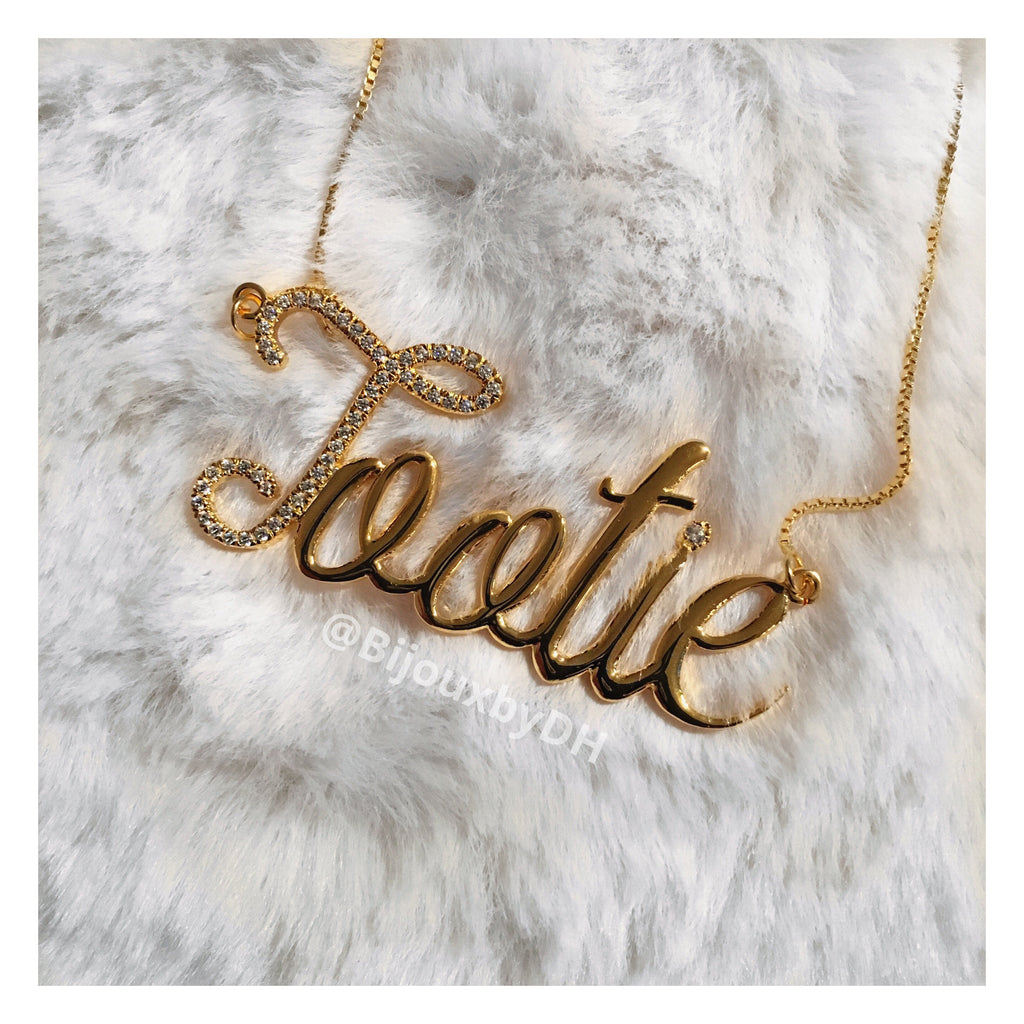 Two-Toned Name Necklace