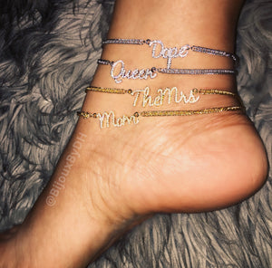 NEW! Title Me Anklet