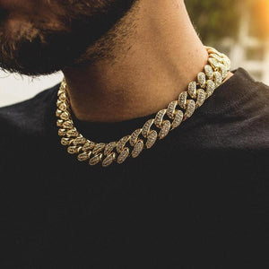 Custom Paved Cuban Link Choker