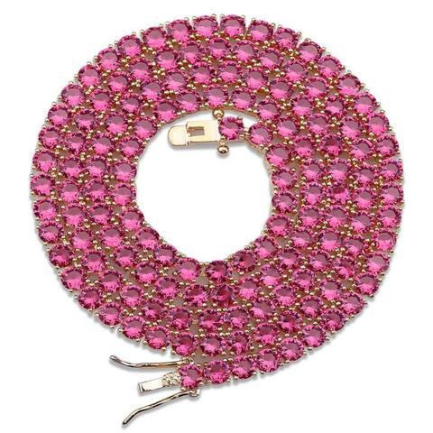 3mm Deep Pink Tennis Chain