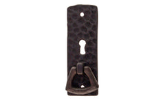 Solid Brass Hammered Keyhole & Drop Pull ~ Flat Black Finish