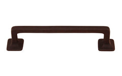"Mission-Style Solid Brass Handle ~ 4"" On Centers ~ Oil Rubbed Bronze Finish"