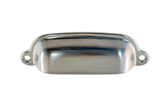 "Classic Solid Brass Bin Pull ~ 3-3/8"" On Centers ~ Brushed Chrome Finish"