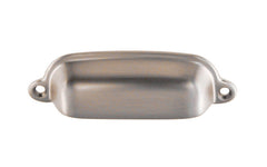 "Classic Solid Brass Bin Pull ~ 3-3/8"" On Centers ~ Brushed Nickel Finish"