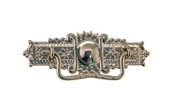 "Brass Eastlake Drop Pull ~ 3"" On Centers - Polished Nickel Finish"