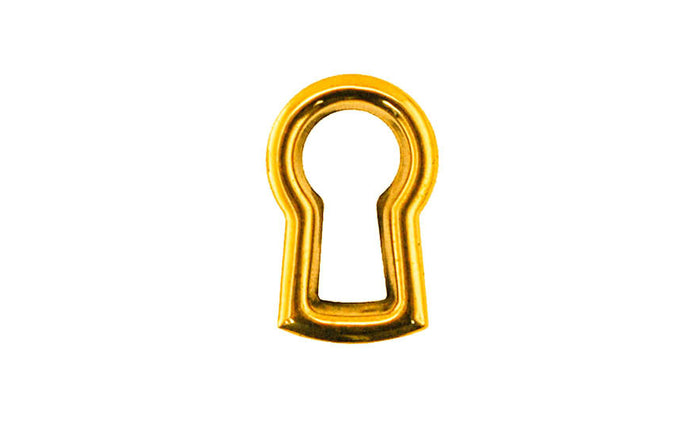 Stamped Brass Keyhole Insert ~ Non-Lacquered Brass (will patina naturally over time)