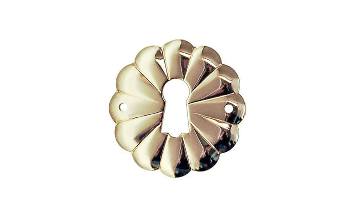 Stamped Brass Keyhole ~ Polished Nickel Finish