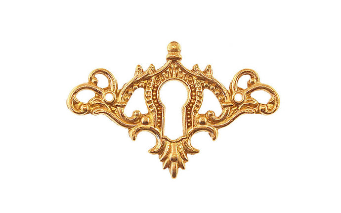 Solid Brass Elegant Keyhole ~ Non-Lacquered Brass (will patina naturally over time)