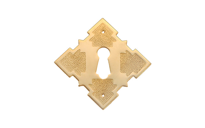 Eastlake-Style Solid Brass Keyhole ~ Non-Lacquered Brass (will patina over time)