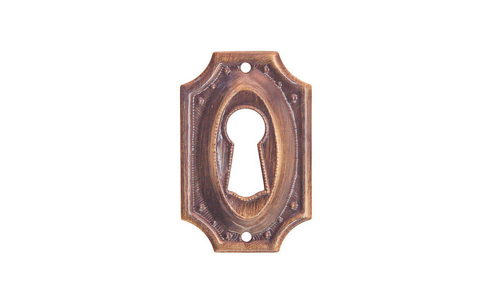 Stamped Brass Keyhole ~ Antique Brass Finish
