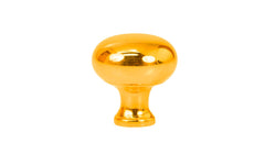 "Solid Brass Core Mini Knob ~ 5/8"" Diameter ~ Non-Lacquered Brass (will patina naturally over time)"