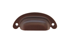 "Classic Brass Half-Round Bin Pull ~ 2-1/2"" On Centers ~ Oil Rubbed Bronze Finish"