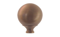 "Brass Ball Finial ~ 2"" Diameter ~ Antique Brass Finish"