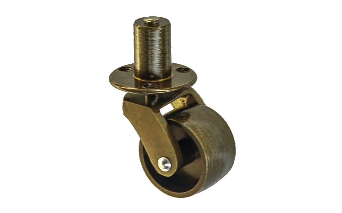 Solid Brass Pivot & Plate Caster ~ 1