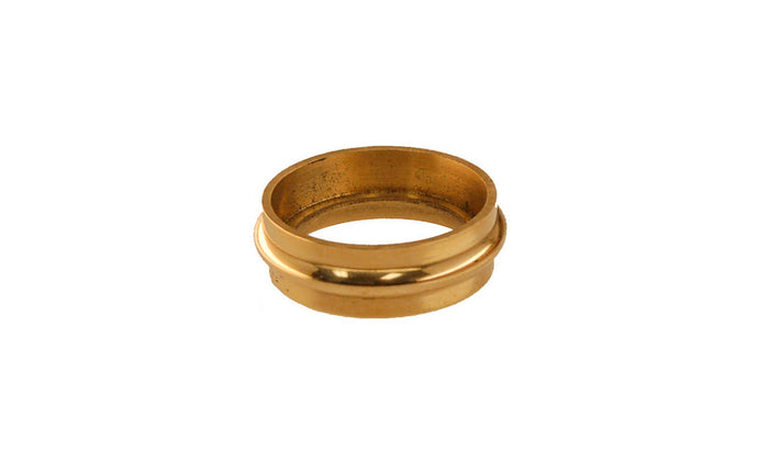 Solid Brass Caster Ring ~ Non-Lacquered Brass (will patina over time)
