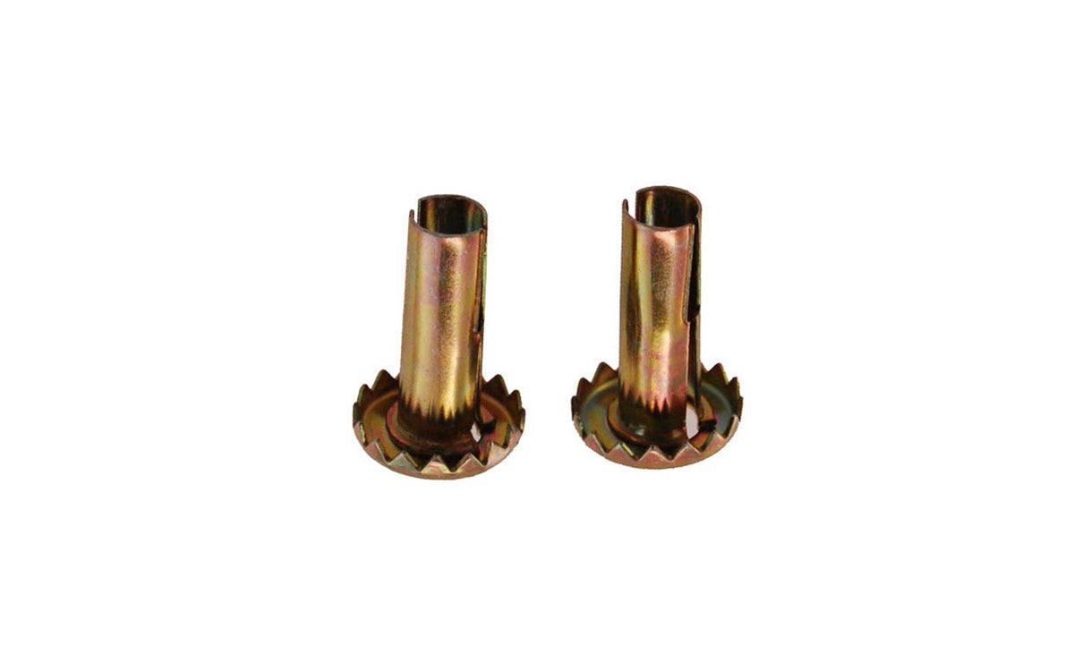 Pair of Steel Grip-Neck Caster Sockets