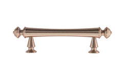 "Solid Brass Elegant Handle ~ 3"" On Centers ~ Brushed Nickel Finish"