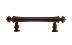"Solid Brass Elegant Handle ~ 3"" On Centers ~ Oil Rubbed Bronze Finish"