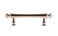 "Solid Brass Elegant Handle ~ 3"" On Centers ~ Polished Nickel Finish"