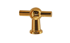 "Solid Brass Ball-Style Handle ~ 1-3/4"" Wide ~ Lacquered Brass Finish"