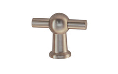 "Solid Brass Ball-Style Handle ~ 1-3/4"" Wide ~ Brushed Nickel Finish"