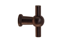 "Solid Brass Ball-Style Handle ~ 1-3/4"" Wide ~ Vertical View"