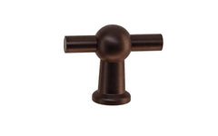 "Solid Brass Ball-Style Handle ~ 1-3/4"" Wide ~ Oil Rubbed Bronze Finish"