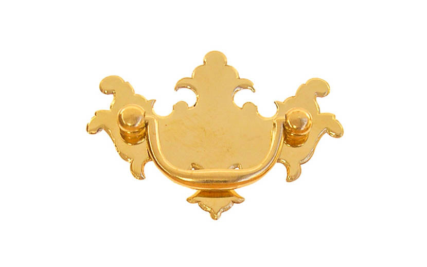 Solid Brass Chippendale Drop Pull ~ 2