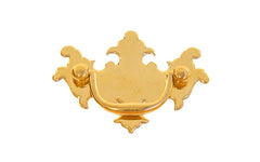 "Solid Brass Chippendale Drop Pull ~ 2"" On Centers - Non-Lacquered Brass (will patina over time)"