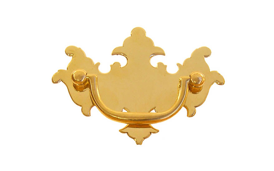 Solid Brass Chippendale Drop Pull ~ 2-1/2