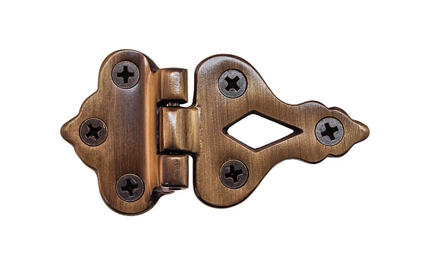 Solid Brass Ice Box Hinge ~ 3/8