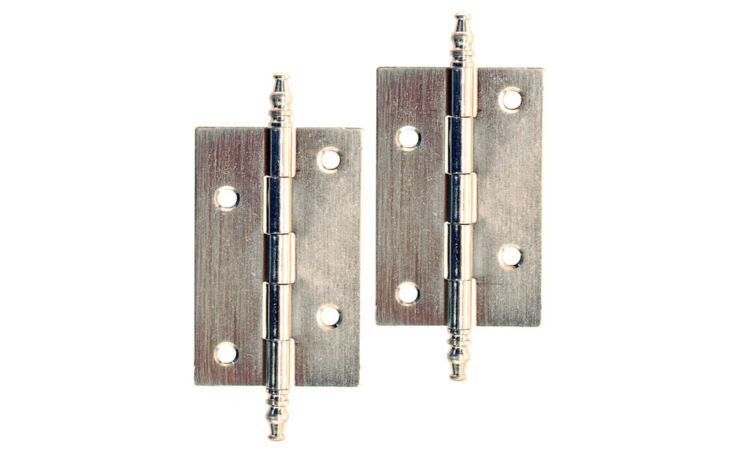 Plated Steel Steeple-Tip Cabinet Hinges ~ 2-1/2