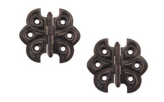 "Embossed Ornamental Cabinet Hinges ""Butterfly Style"" ~ 2-3/8"" x 2-1/8"" ~ Oil Rubbed Bronze Finish"