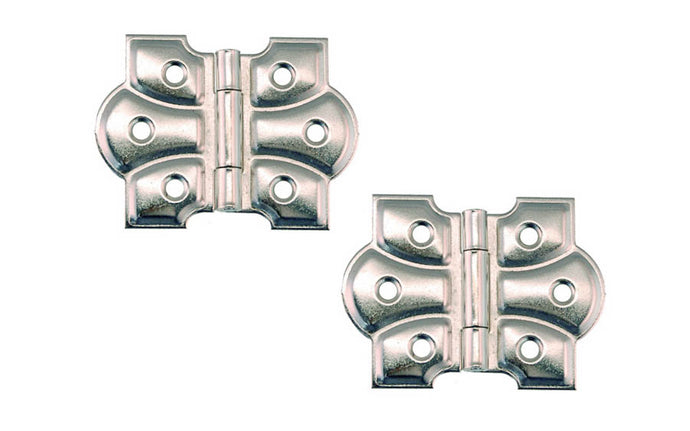 Embossed Ornamental Cabinet Hinges ~ 2-3/8