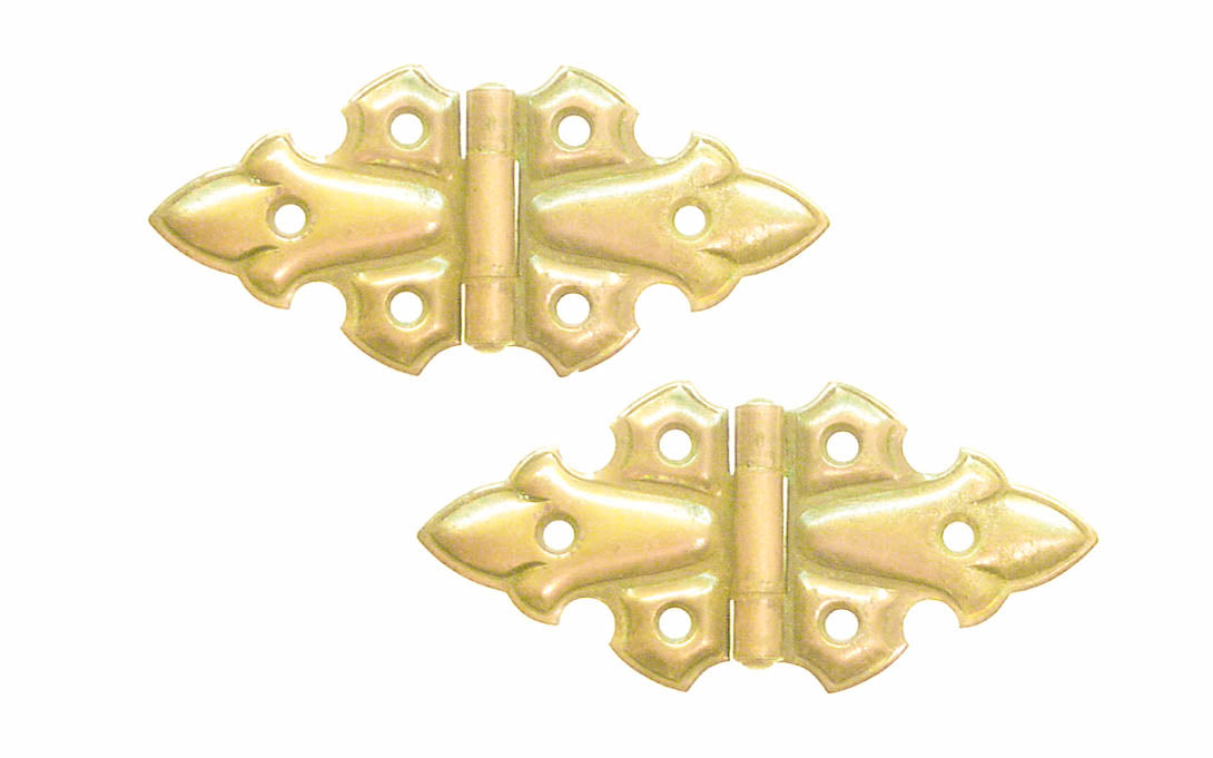 Embossed Ornamental Cabinet Hinges ~ 3-13/16