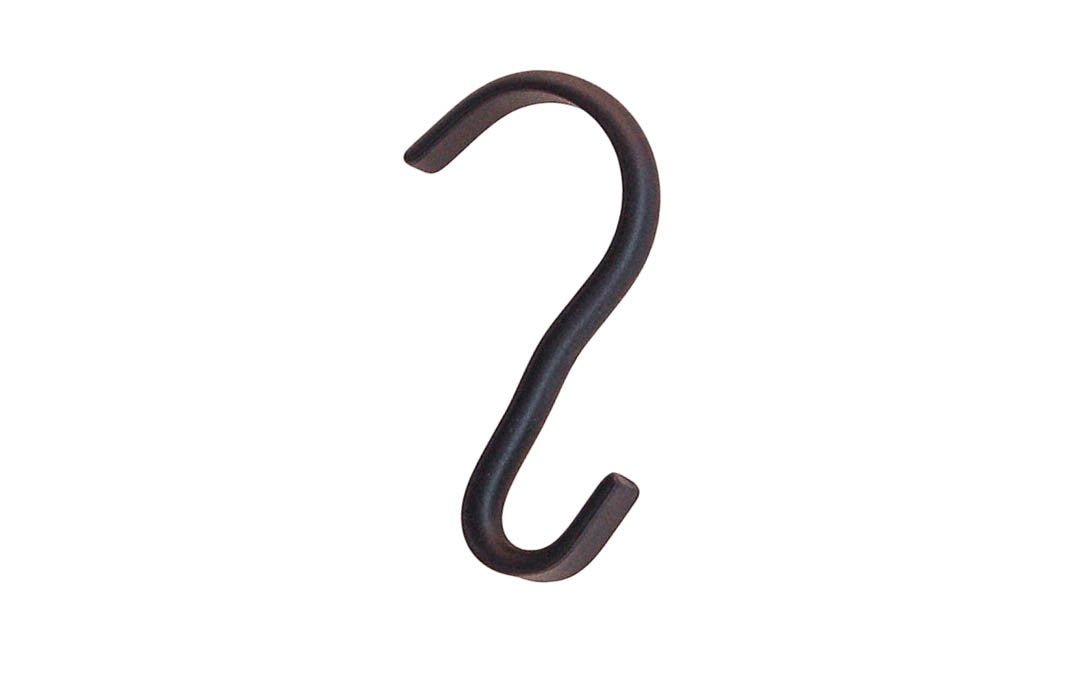 Solid Brass Narrow Width Picture Moulding Hook ~ Oil Rubbed Bronze Finish
