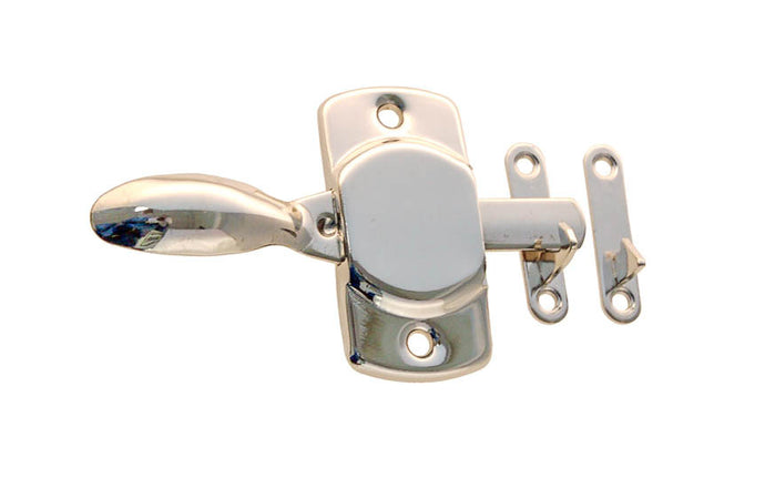 Stamped Brass Handle Latch ~ Polished Nickel Finish