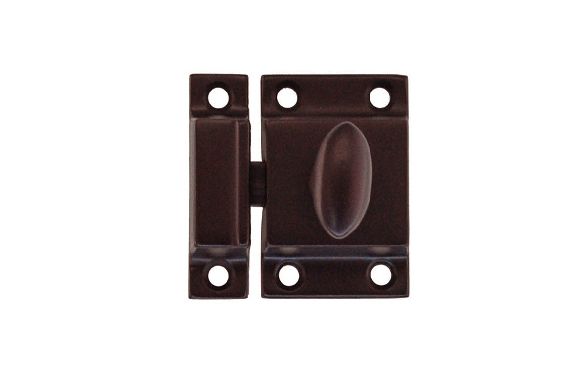 Solid Brass Cupboard Cabinet Latch ~ Oil Rubbed Bronze Finish