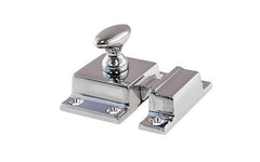 Solid Brass Cupboard Cabinet Latch ~ Polished Chrome Finish