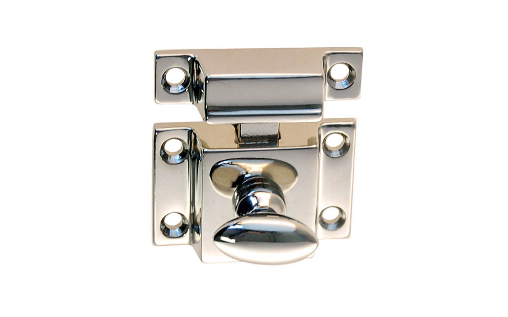 Solid Brass Cupboard Cabinet Latch ~ Vertical View