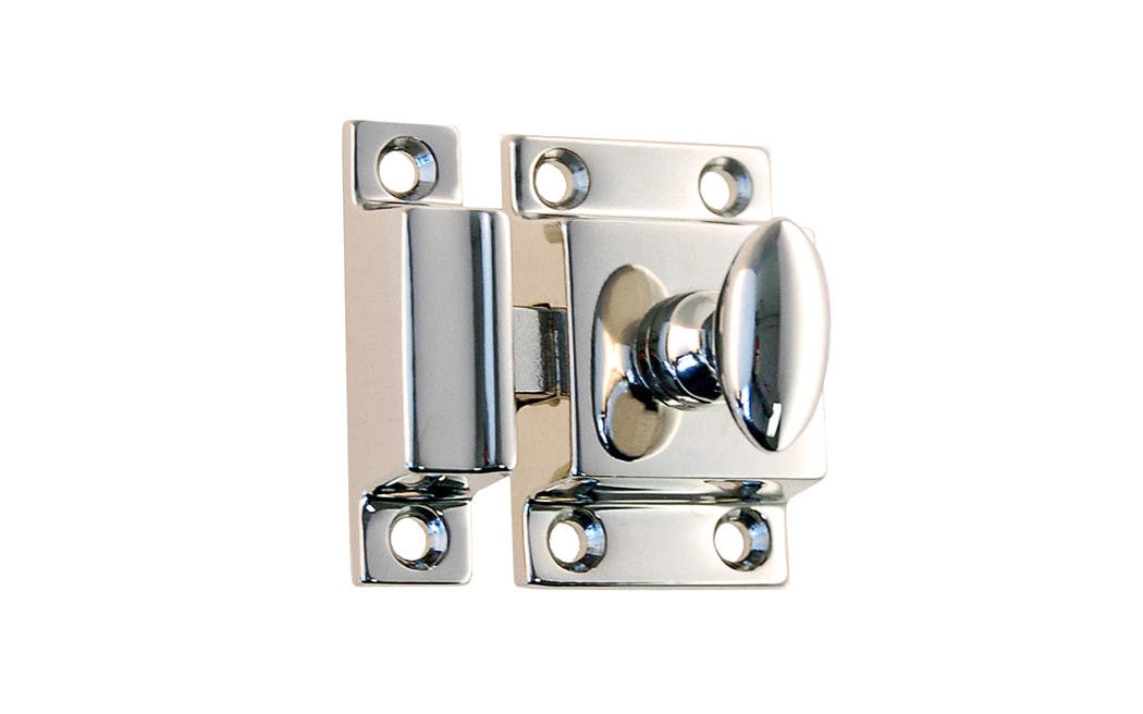 Solid Brass Cupboard Cabinet Latch ~ Polished Nickel Finish