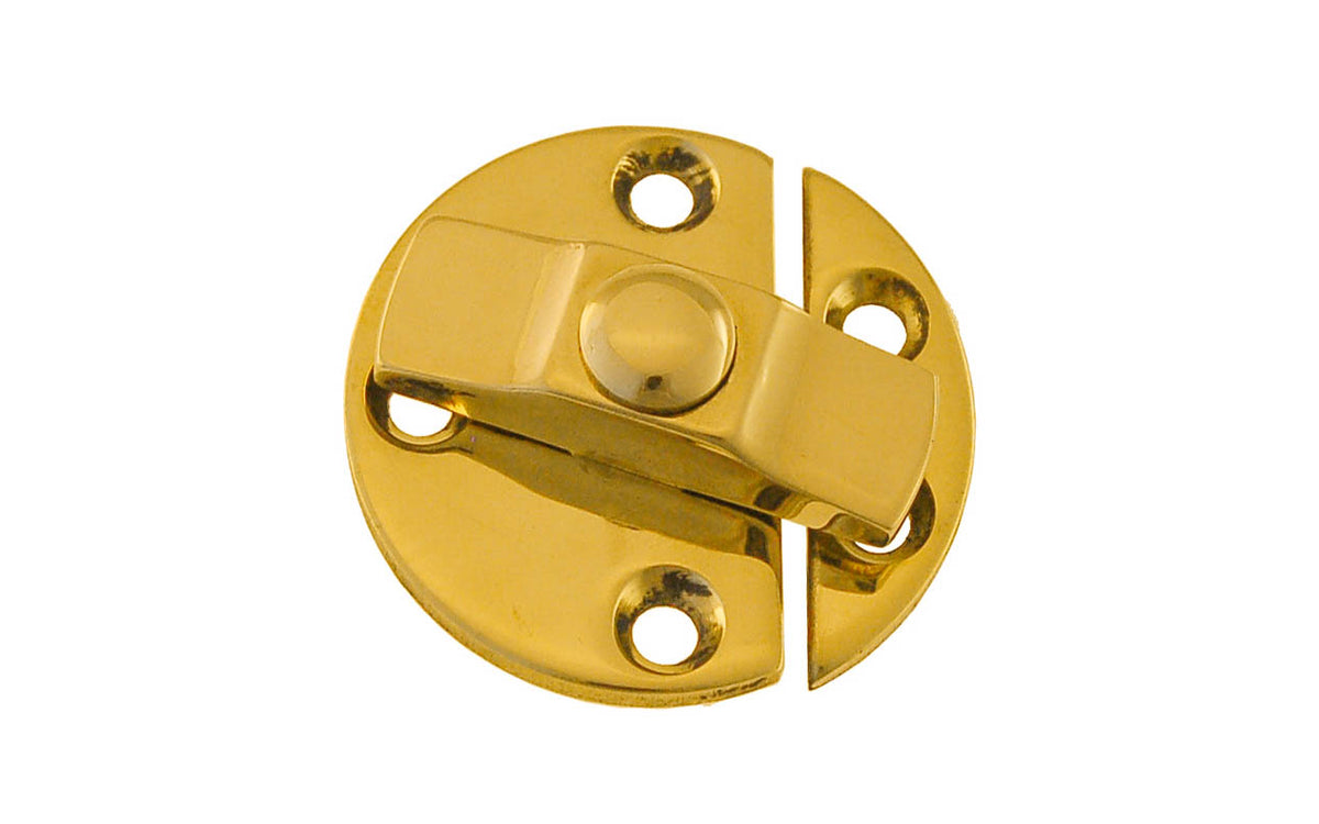 Solid Brass Turn Button With Back Plates ~ Non-Lacquered Brass (will patina over time)