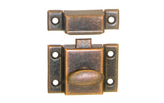 Stamped Steel Cabinet Latch ~ Vertical View