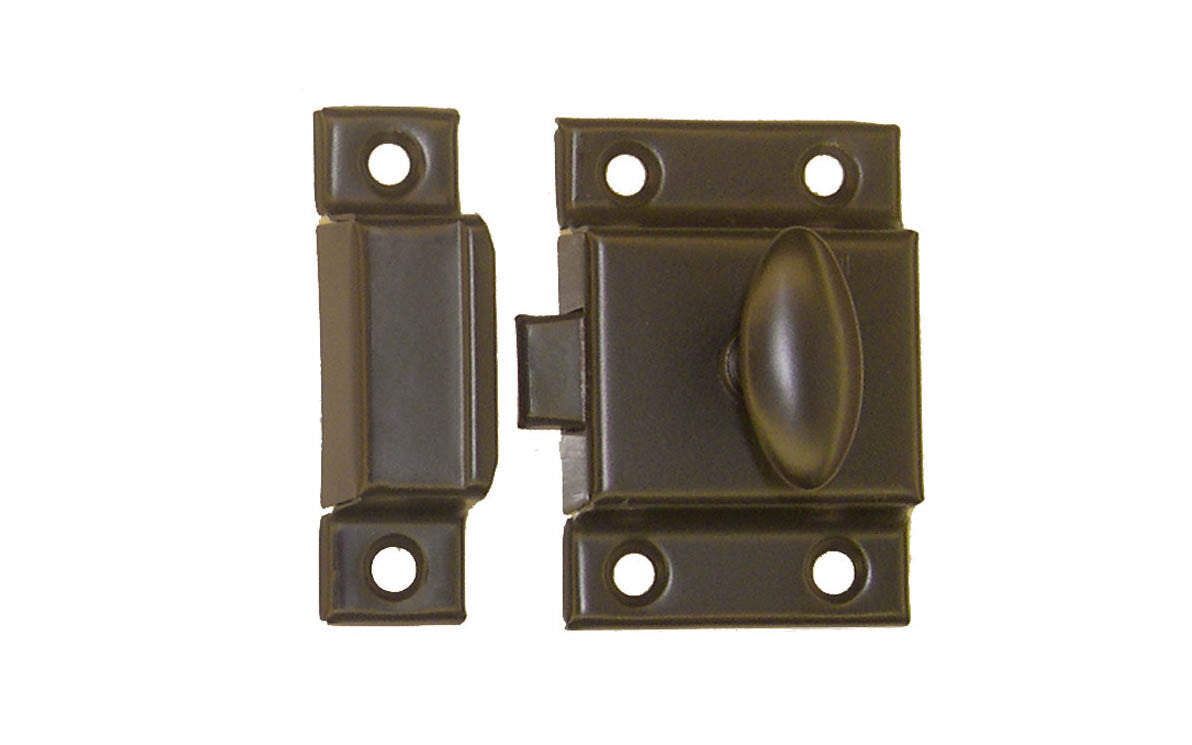 Stamped Steel Cabinet Latch ~ Oil Rubbed Bronze Finish