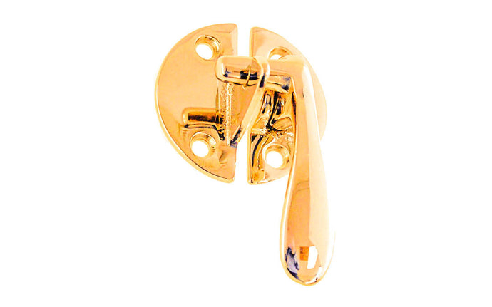 Solid Brass Flush Mount Latch ~ Right Hand ~ Non-Lacquered Brass (will patina naturally over time)