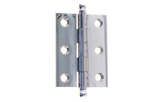 "Classic Solid Brass Ball-Tip Cabinet Hinge ~ 2"" High x 1-1/2"" Wide ~ Polished Chrome Finish"