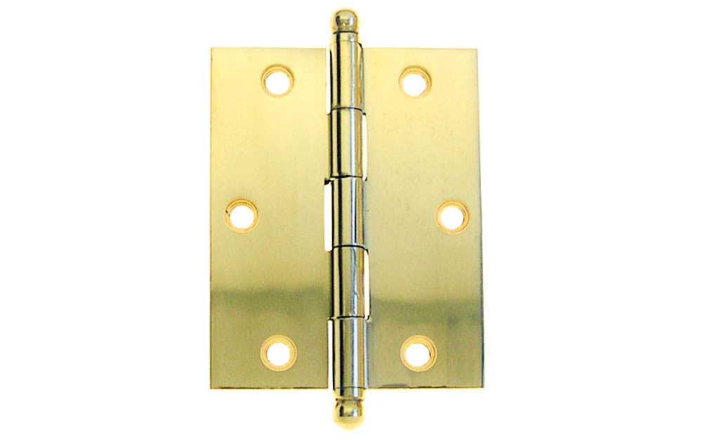 Classic Solid Brass Ball-Tip Cabinet Hinge ~ 2-1/2