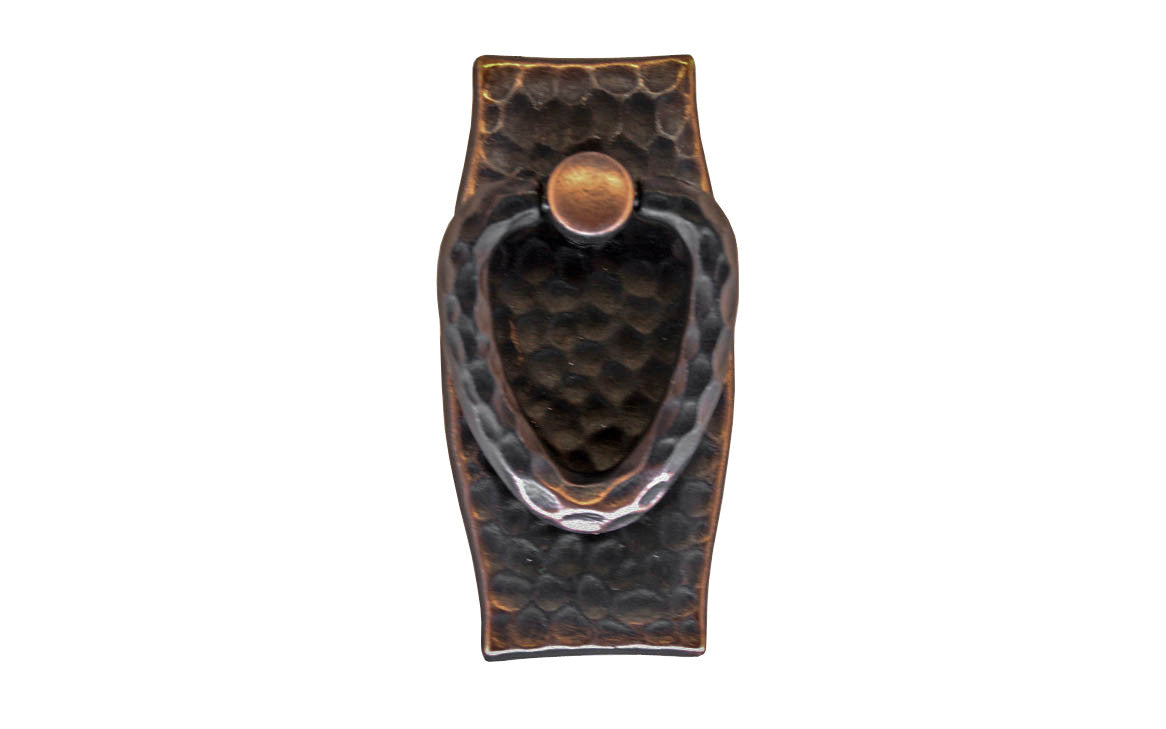 Mission-Style Vertical Drop Pull ~ Antique Copper Finish