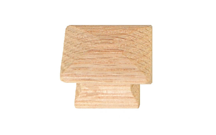 Square Oak Wood Knob ~ 1-1/4